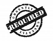 Stamp 'urgently Required'