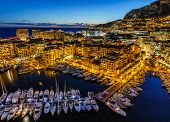 picture of french culture  - Aerial View on Fontvieille and Monaco Harbor with Luxury Yachts French Riviera - JPG