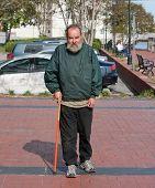 Handicapped Homeless Man