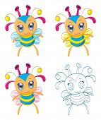 image of chibi  - The collection of cartoon chibi fantasy creatures  - JPG