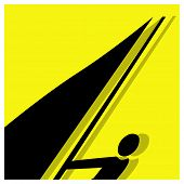 Surfing Pictogram