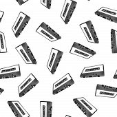 Audiocassette Seamless Pattern