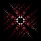 stock photo of maltese-cross  - Fractal flame background - JPG