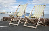 Deckchairs In Paignton Devon