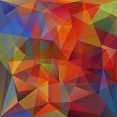 foto of kaleidoscope  - Abstract Triangle Geometrical Multicolored Background - JPG
