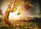 Lady Autumn With Wings