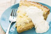 foto of custard  - Common Hawaiian Dessert a rich coconut custard pie