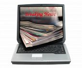 Breaking News clipping Path