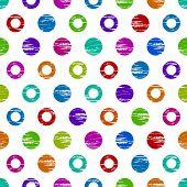 Colorful grunge circle seamless background pattern