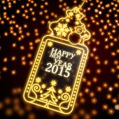 Noble Christmas Label With Happy New Year Symbol