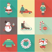 picture of nutcracker  - christmas icons vector - JPG