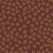 Coffee bean wallpaper. Seamless pattern coffee time. Vector illustration