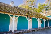 stock photo of dowry  - This is a reconstructed stables in Castle  - JPG
