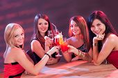 Female Friends Enjoying A Cocktail