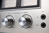 Stereo Cassette Tape Deck Analog controls Vintage, Toshiba