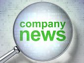 News concept: Company News with optical glass