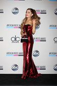 LOS ANGELES - NOV 24:  Ariana Grande at the 2013 American Music Awards Press Room at Nokia Theater o