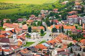 Spissky Hrad Village Panorama Center
