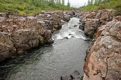 picture of taimyr  - Rocky canyon of the mountain river - JPG