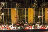 Riga, Latvia - 25 November 2013: Third day of National Mourning