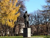stock photo of maxim  - Monument to Maxim Gorky photographed close up - JPG