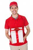 Messenger Delivering A Decorative Gift
