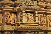 pic of khajuraho  - Human Sculptures at Vishvanatha Temple  - JPG