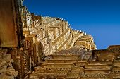 picture of khajuraho  - Top of Vishvanatha Temple - JPG
