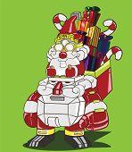 santa clause and santa robot