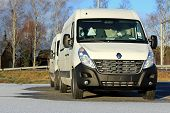 Two White Renault Master Vans In Winter