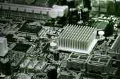 Fragment Of Computer Motherboard