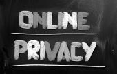 Online Privacy Concept