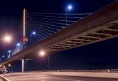 image of skyway bridge  - Night view of the Veterans - JPG