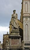 Statue Of Dante In Florence, Italy