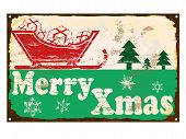 Merry Xmas Enamel Sign