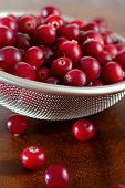 Cranberries In Strainer