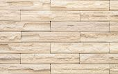 picture of mortar-joint  - Beige brick wall design as mortar background texture - JPG