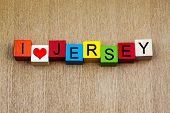 I Love Jersey, Channel Islands or New Jersey - Sign Series For Travel