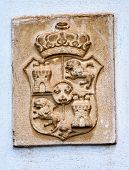 Alhambra Palace Royal Crest Granada Andalusia Spain