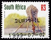 Postage Stamp South Africa 1998 Giraffe, Animal