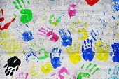 Colorful Kids Handprints