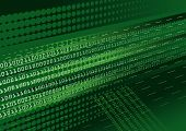 stock photo of binary code  - Dark green binary code abstract background with halftone effect - JPG