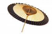 Traditional Japanese umbrella made �?�¢??�?�¢??of bamboo and paper.