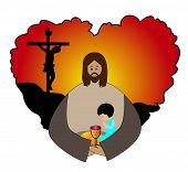 stock photo of eucharist  - Illustration of Jesus Christ - JPG