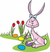 stock photo of peter cottontail  - Cartoon Easter Bunny in vector art and Hi res raster art formats.
