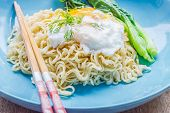 Chinese Rice Noodle With Fried Egg