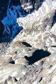 view from Lomnicky Peak to tarn, Vysoke Tatry (High Tatras), Slovakia
