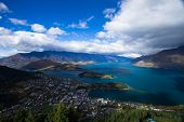Views over Queenstown and Lake Wakatipu