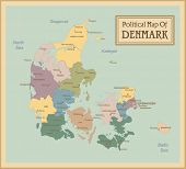 Denmark-highly detailed map.All elements are separated in editable layers clearly labeled. Vector