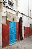 Colorful Street Fragment. Medina, Historical Part Of Tangier, Morocco